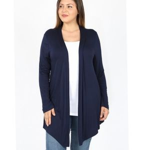 Navy open front cardigan size 1X